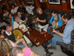 Nightly session of music in Doolin Co Clare