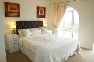 Interior of one of the bedrooms at the Harbour View Bed and Breakfast Doolin